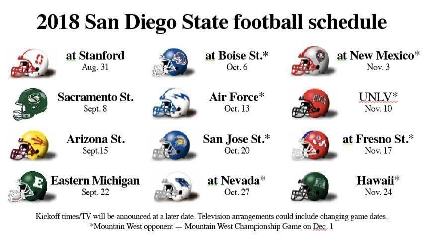 Dates announced for San Diego State's 2018 football games ...