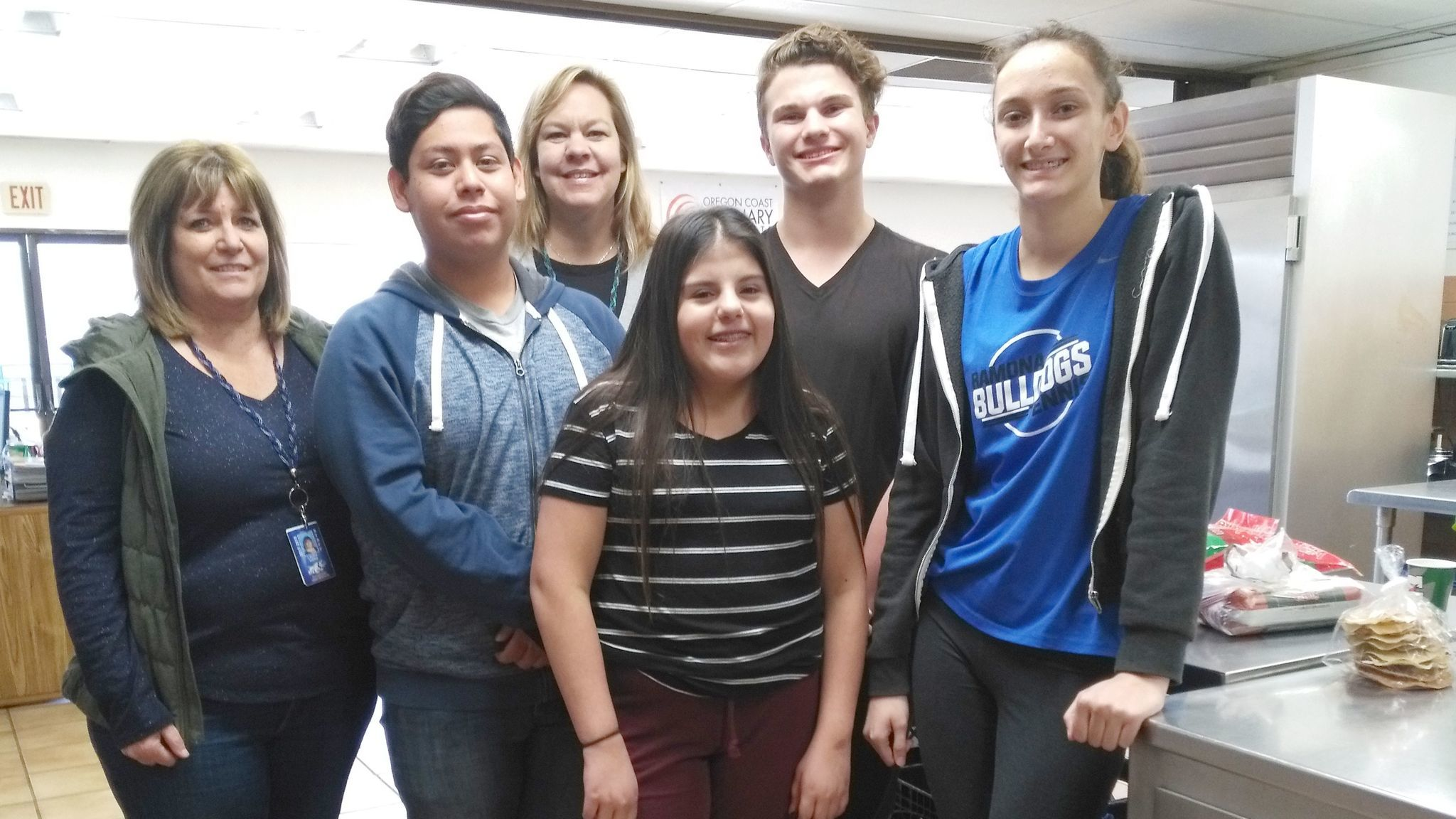 Students in Ramona High School's culinary classes who competed in SkillsUSA Region 6 competitions are Cesar Martinez, Azlynn Cordova, Connor Hane and Jessica Nelson.