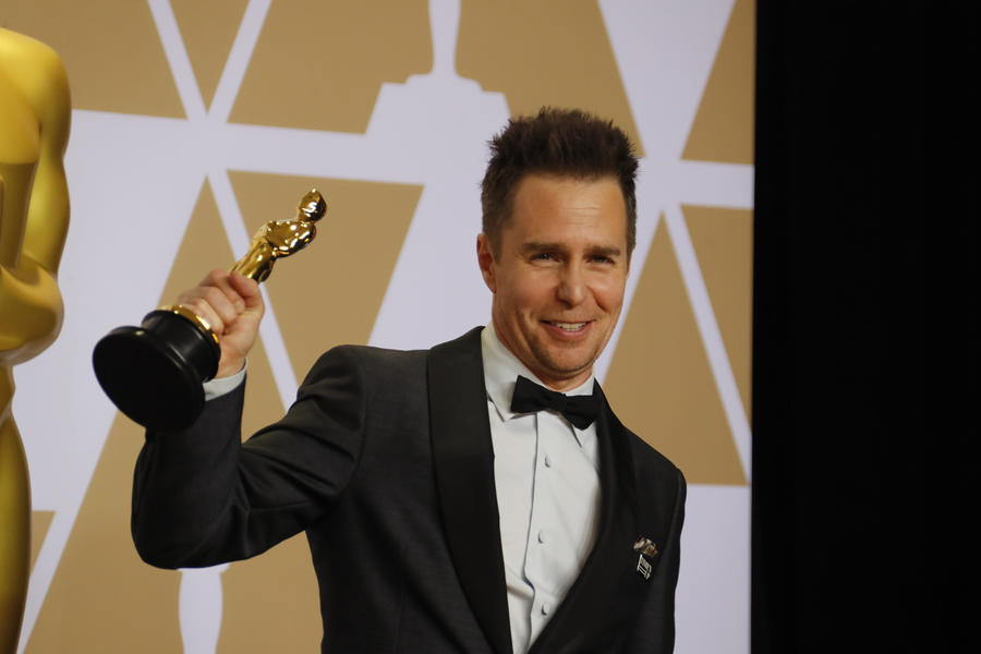 Sam Rockwell in the Photo Room at the 90th Academy Awards. (Allen J. Schaben / Los Angeles Times)