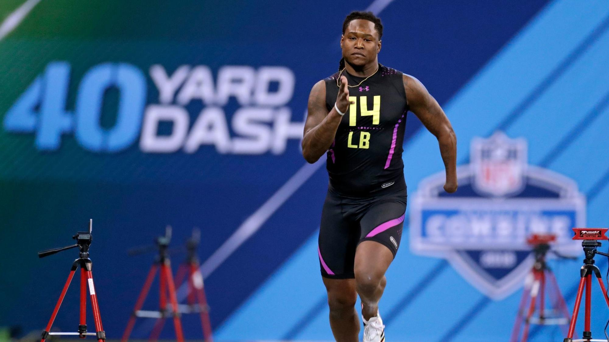 Shaquem Griffin made NFL combine history with fastest linebacker 40-yard dash time since they were recorded in 2003.