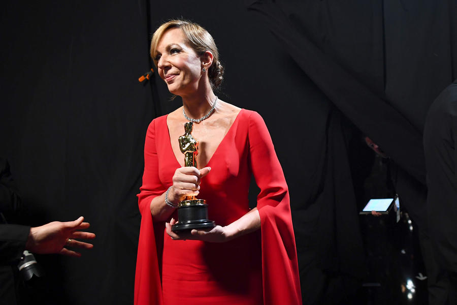 Allison Janney backstage at the 90th Academy Awards. (Matt Petit / Getty Images)