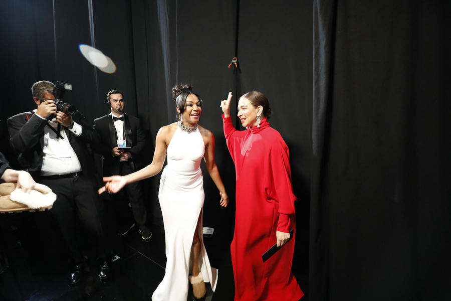 Presenters Tiffany Haddish, left, and Maya Rudolph. (Al Seib / Los Angeles Times)