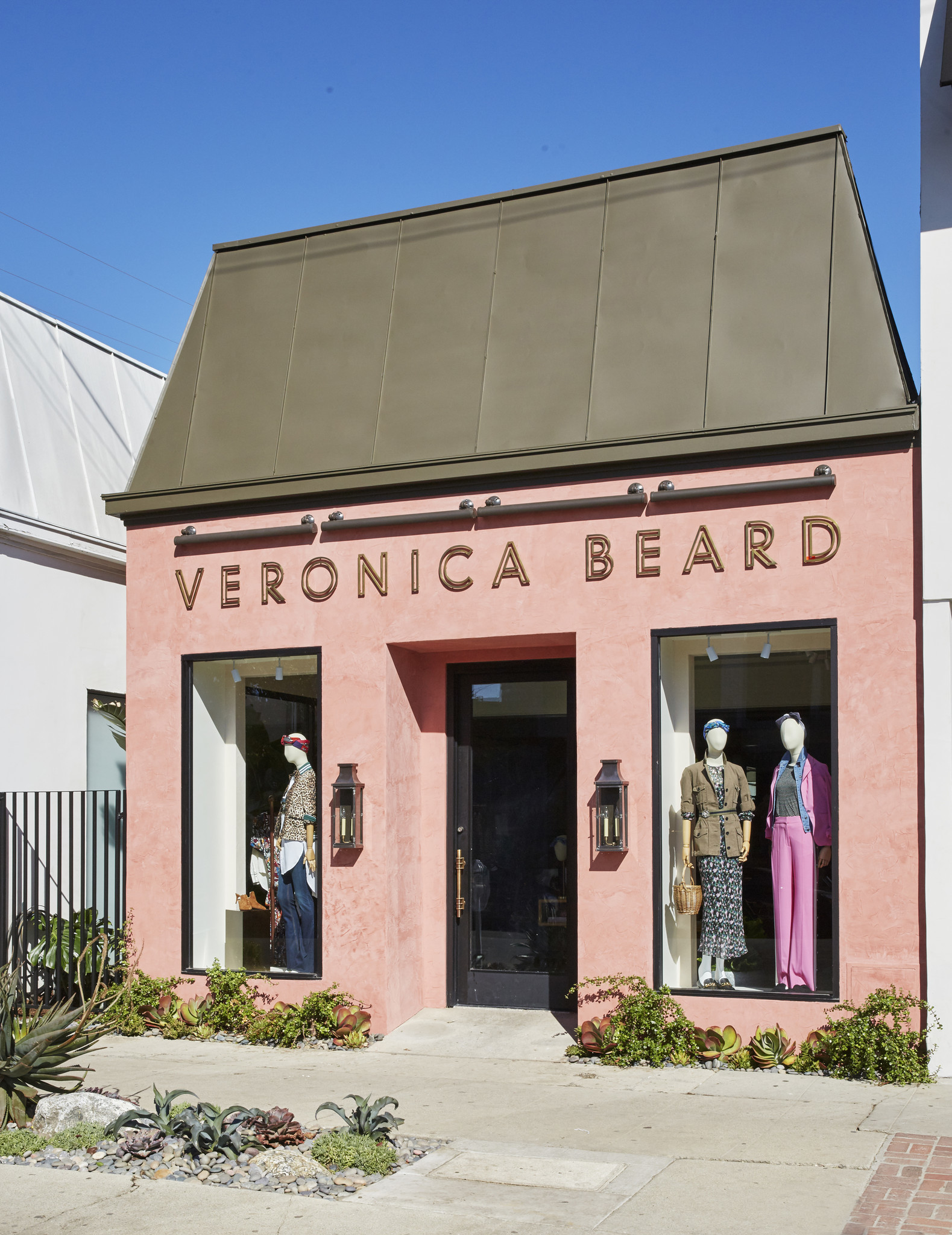 A look at the exterior of the new Veronica Beard store on Melrose Place in Los Angeles.