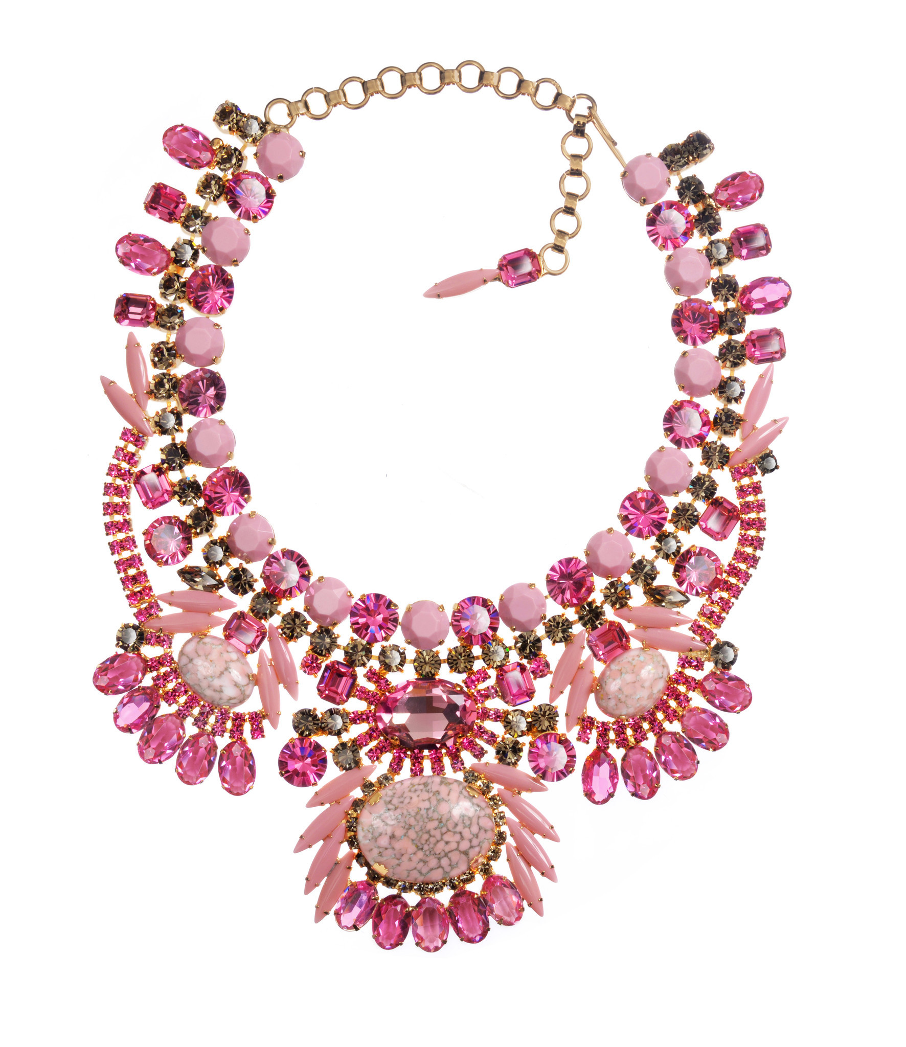 Brilliant colors are a signature of the jewelry line from Canadian Alan Anderson