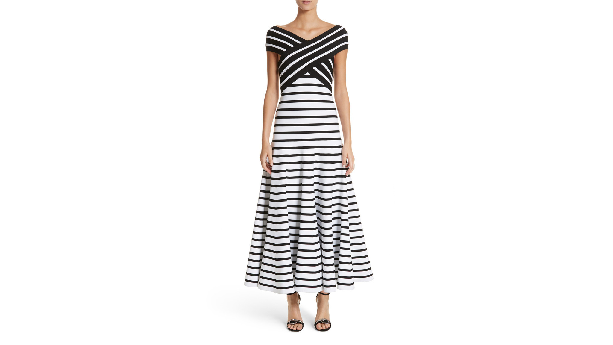 Designer: Caroline Herrera Photo Credit: Nordstrom Carolina Herrera's brash graphic black-and-whit