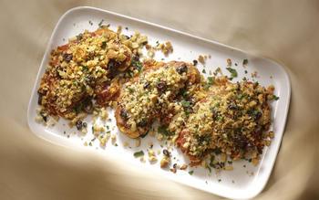 Crunchy cauliflower steaks alla parmigiana
