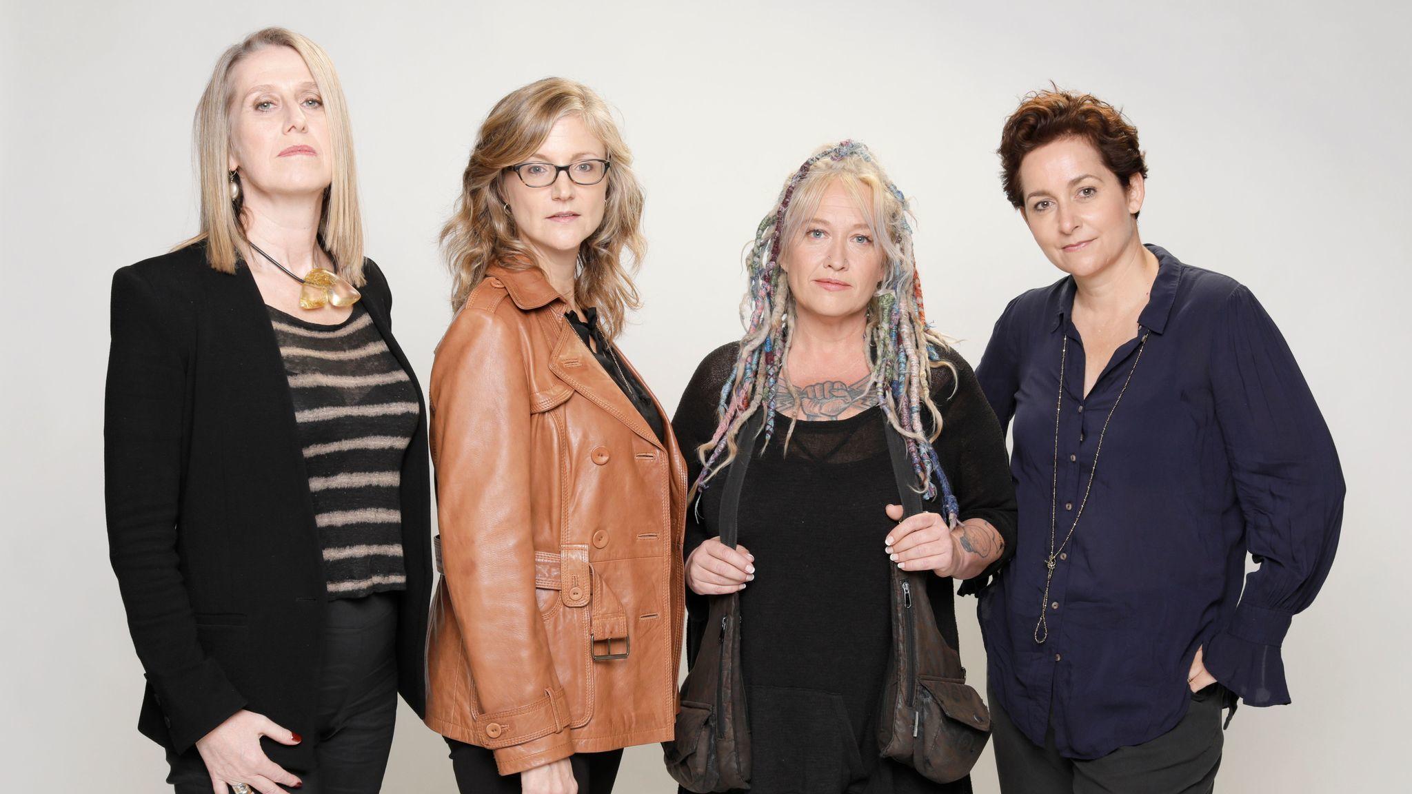 "LOS ANGELES, CALIF. -- NOVEMBER 16, 2017: ""Jessica Jones"" directors from left: Neasa Hardiman, Jenn"