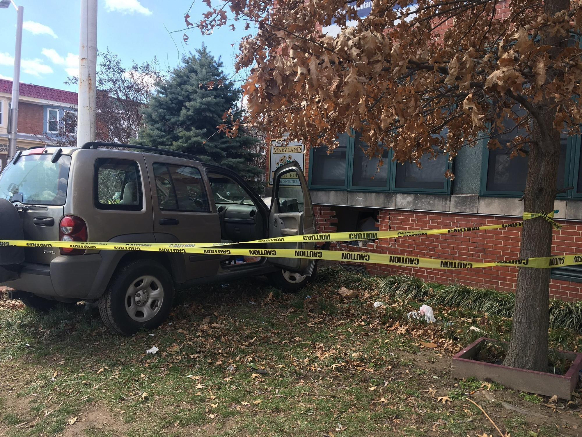 Students injured after car strikes Baltimore school