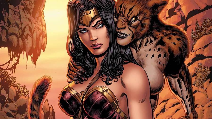 """Wonder Woman and Cheetah on the cover of """"Wonder Woman"""" No. 3, (Liam Sharp / DC Entertainment)"""