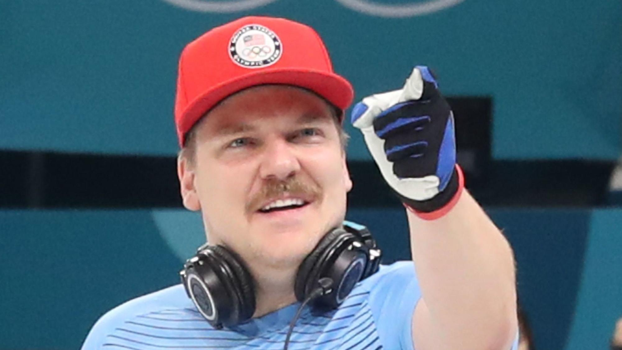 matt hamilton  his mustache and his olympic curling broom