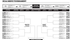 Downloadable NCAA men's basketball tournament bracket