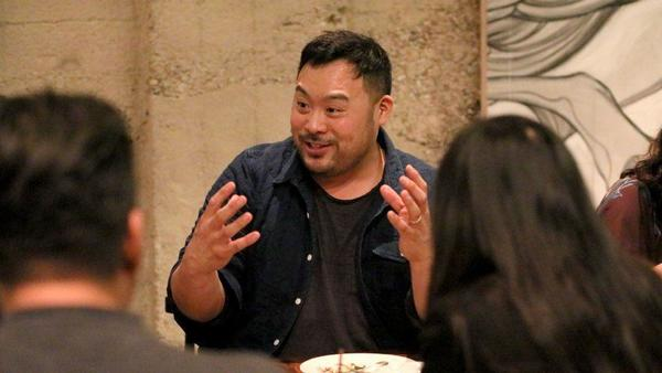 "Chef/owner David Chang hosts an ""Ugly Delicious"" dinner party at his first West Coast restaurant, Majordomo, in Los Angeles"
