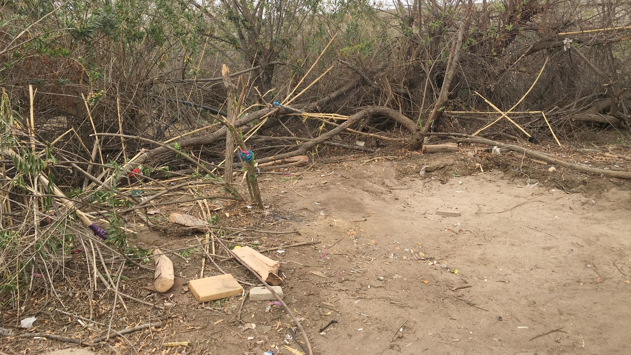 Caltrans clears Santa Maria Creek encampments after Ramona sheriff's deputies arrest nine homeless occupants during a March 8 sweep.