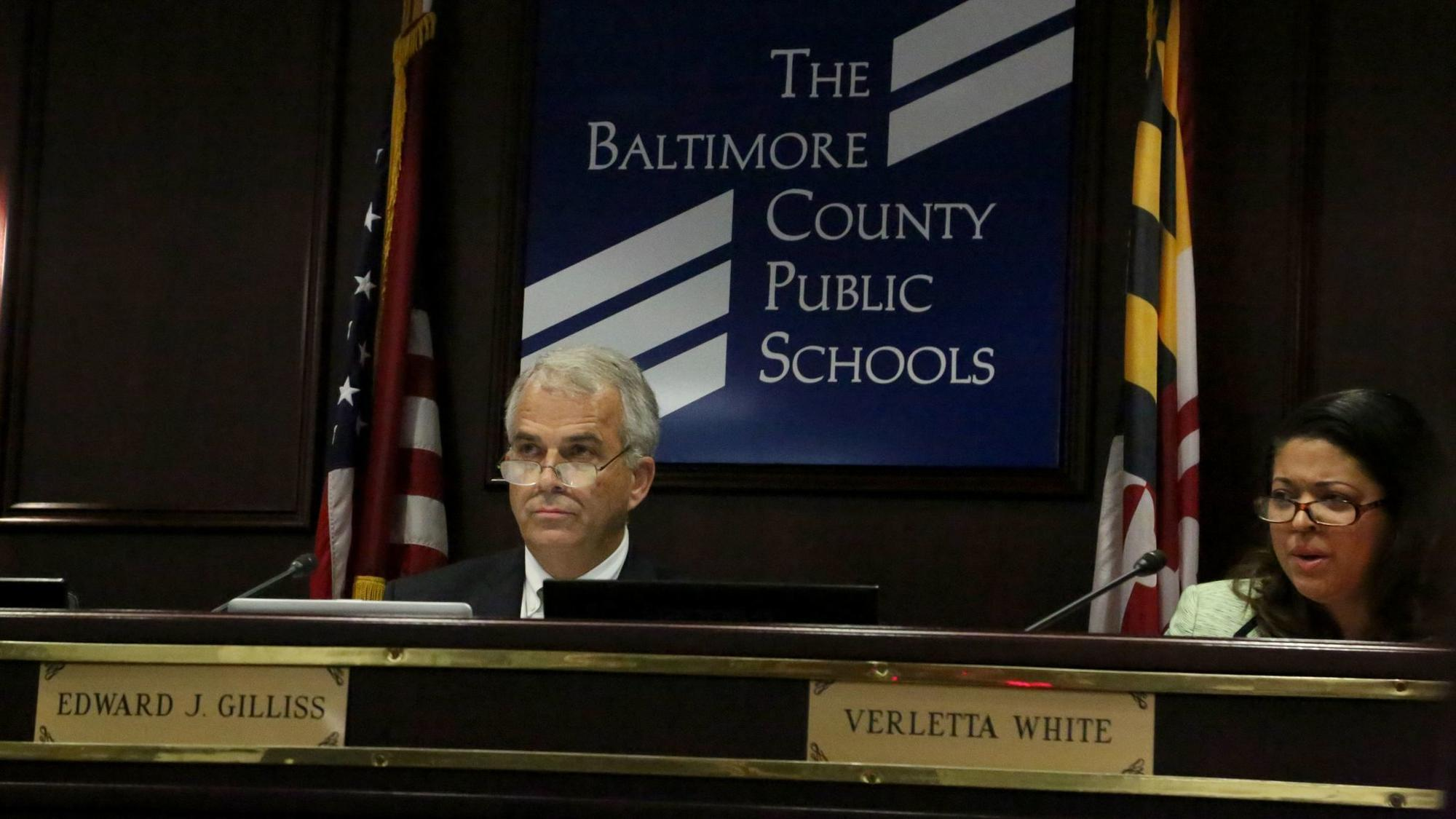 Baltimore County school board chair assures state senators of contract reform