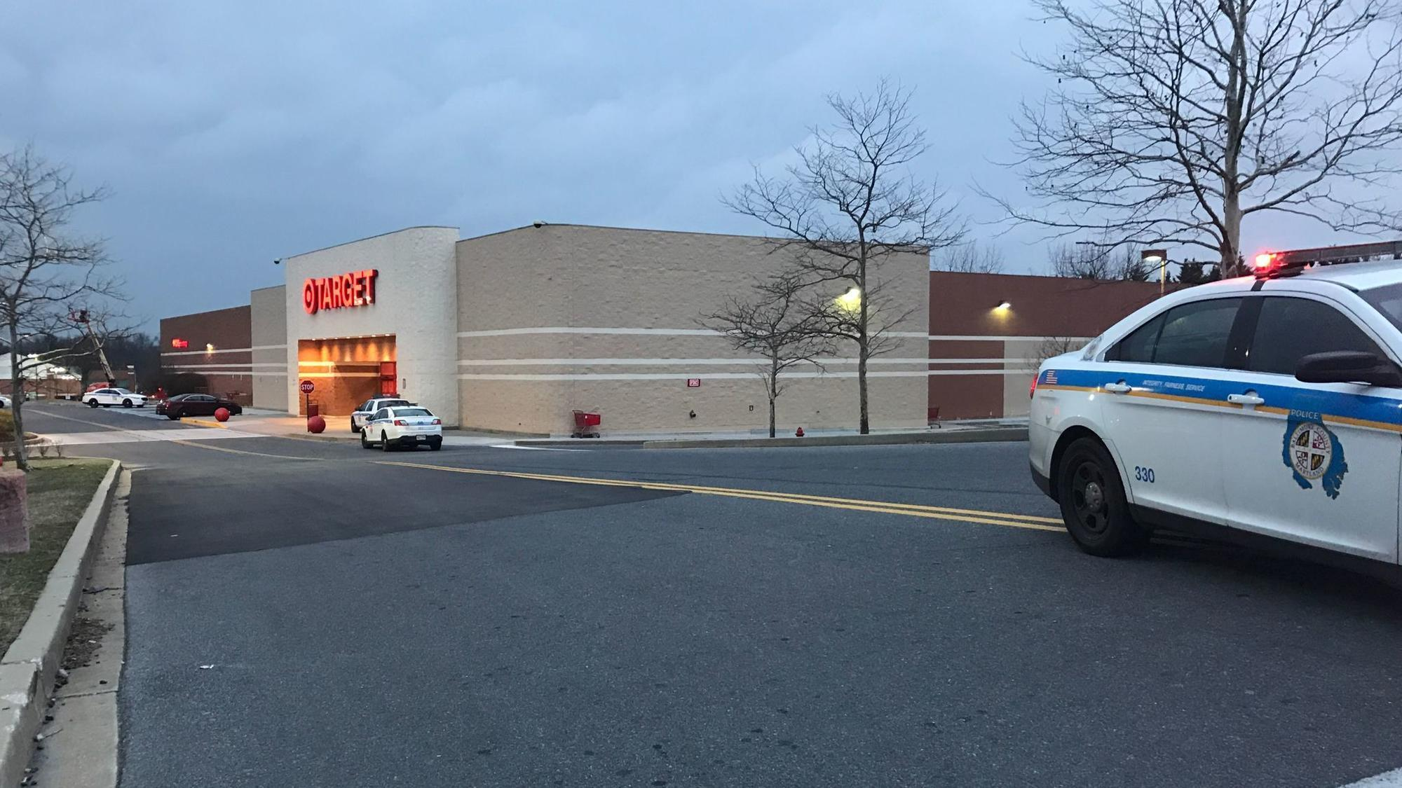 baltimore county police investigating shooting at target in owings