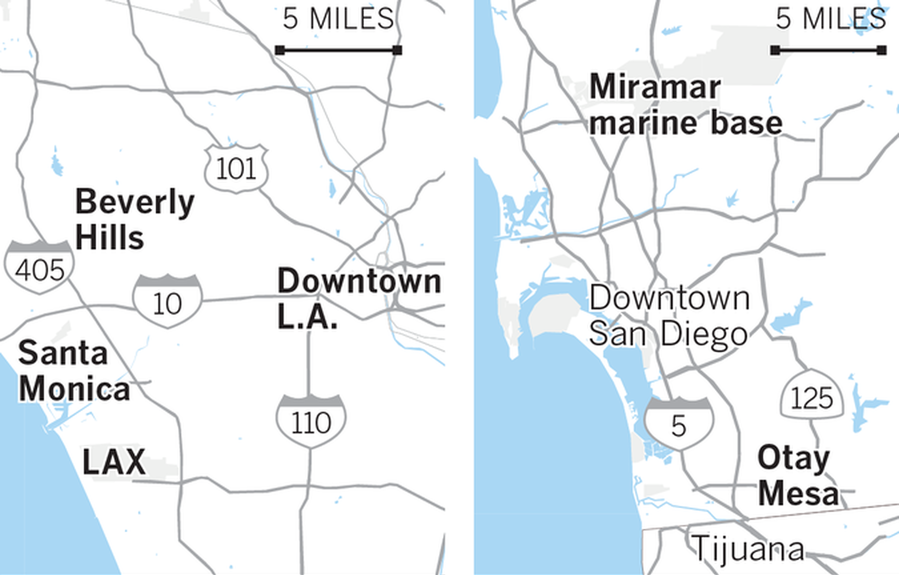Trumps California schedule hour by hour The San Diego UnionTribune