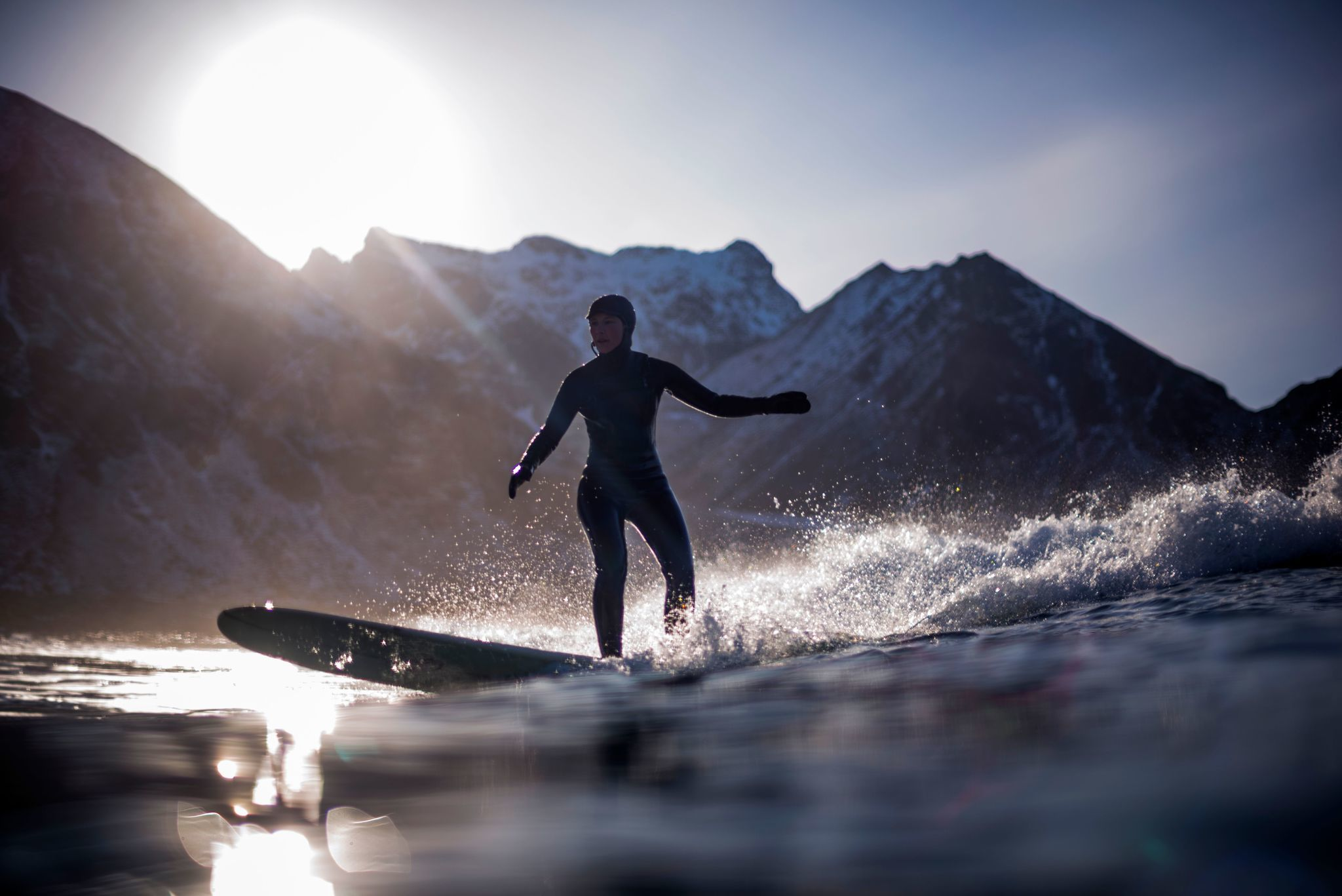 TOPSHOT-NORWAY-LIFESTYLE-TOURISM-SURFING-WEATHER-ARCTIC