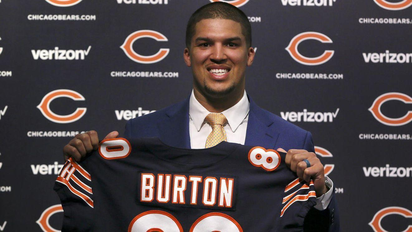 New Bears Tight End Trey Burton Knows How He Can Top The Philly Special Chicago Tribune