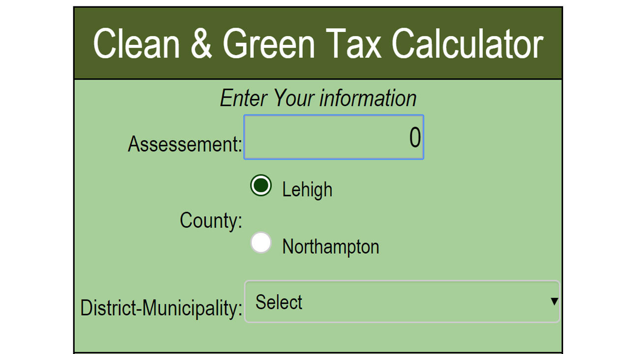 Clean and Green Tax Calculator
