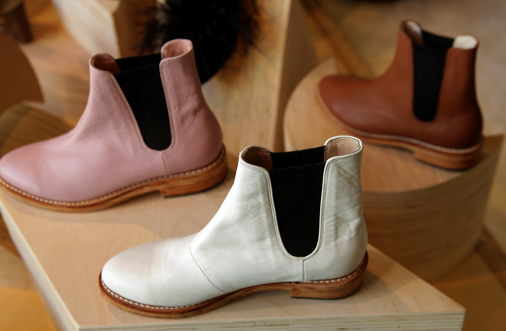 Booties from Ventura-based footwear designer Charlotte Stone.