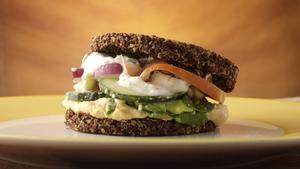 True Food Kitchen's inside out quinoa burger