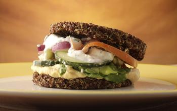 True Food Kitchen's inside out quinoa burger