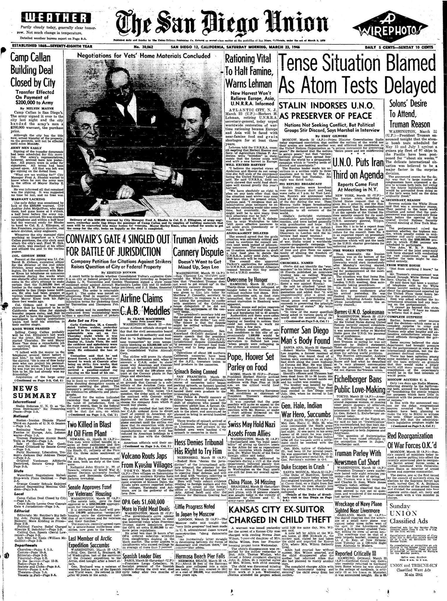 March 23, 1946
