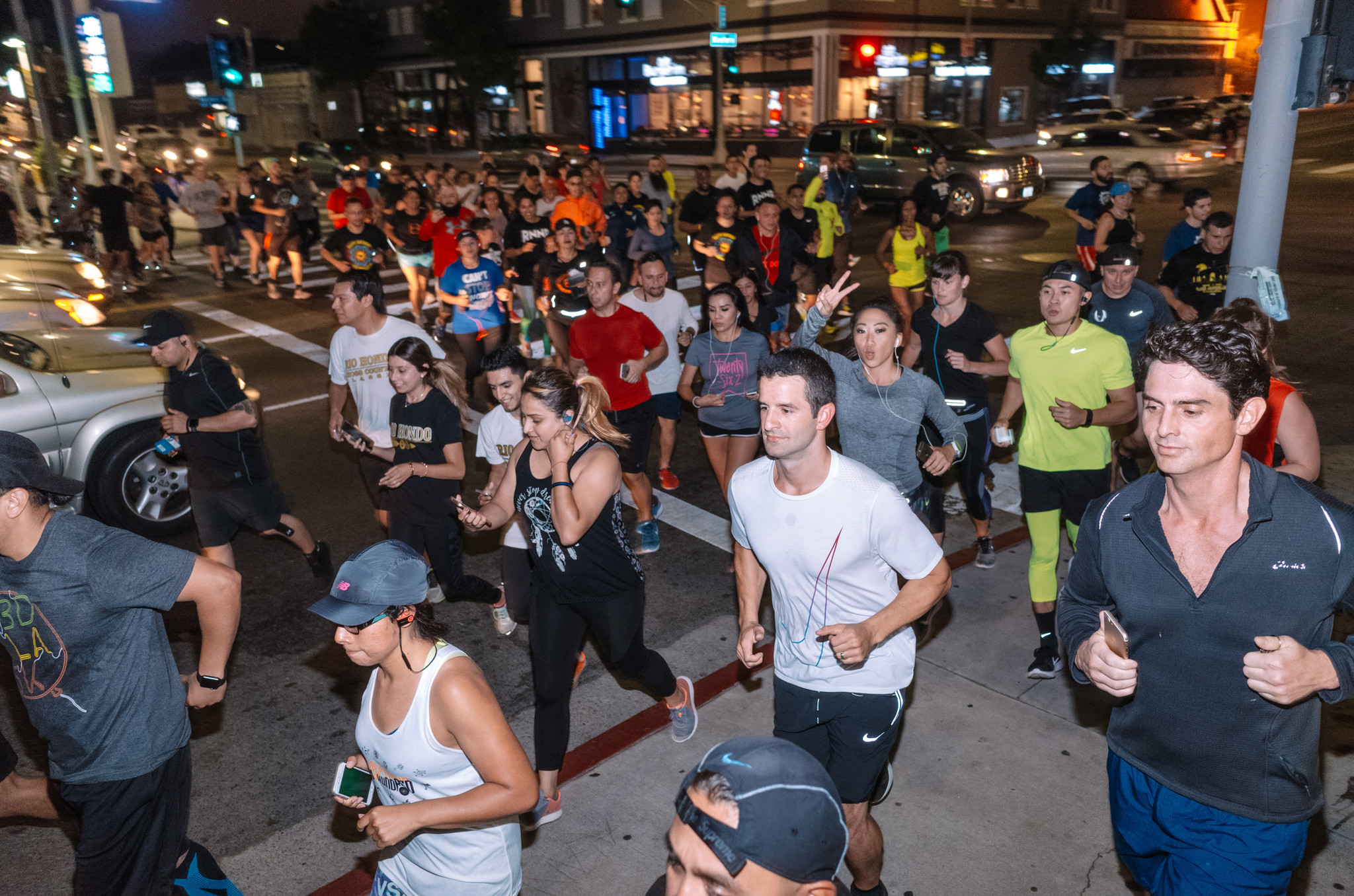 BlacklistLA Run Organization on National Running Day. June 7, 2017. Credit: Hans Meckler What start