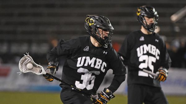 Twin telepathy? Not quite, but UMBC lacrosse brothers Michael and Steven Zichelli share plenty