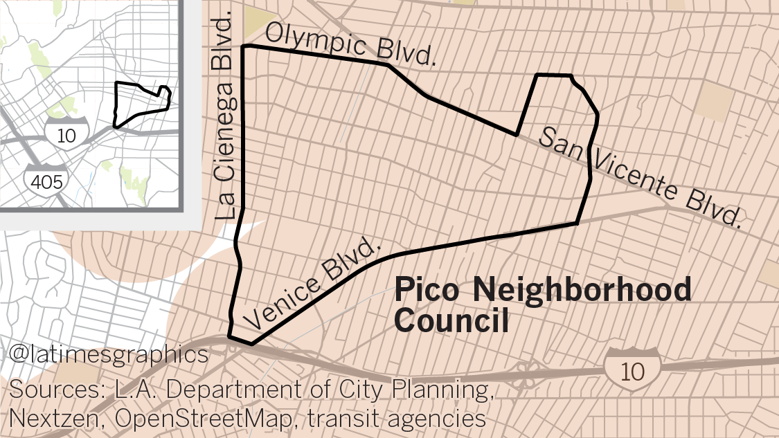 Because it is bordered by bus routes, one neighborhood council would see all but a tiny sliver of its territory covered under Senate Bill 827.