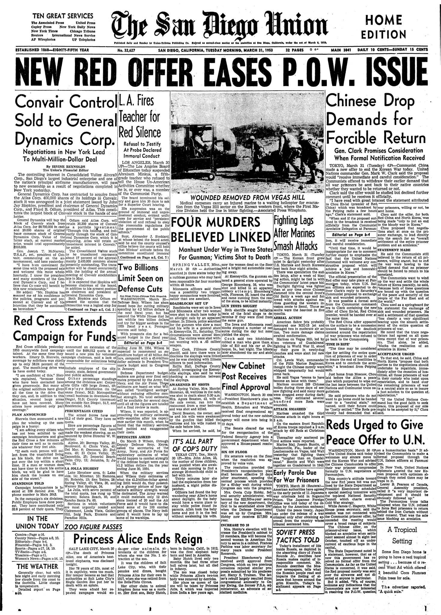 March 31, 1953