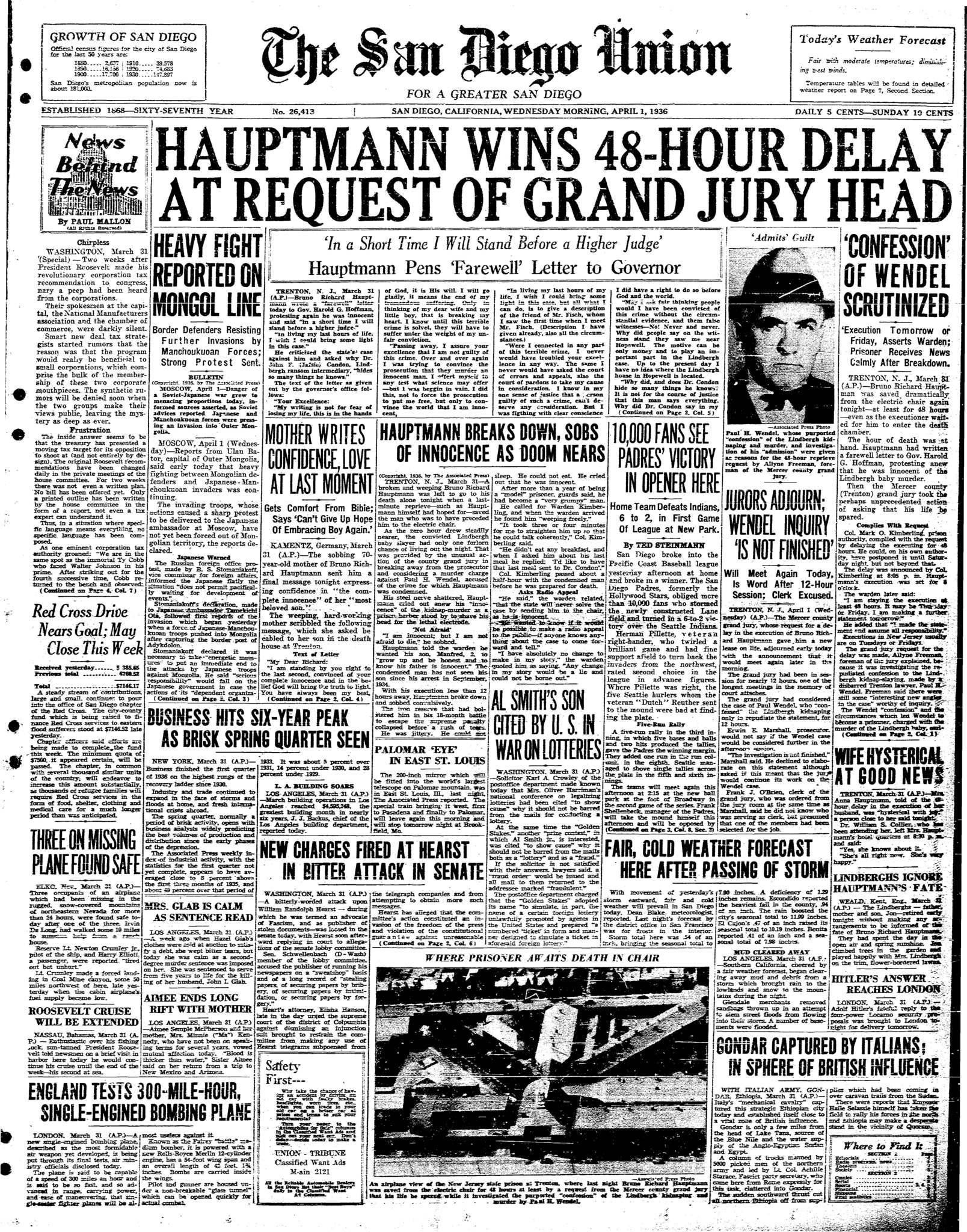 April 1, 1936