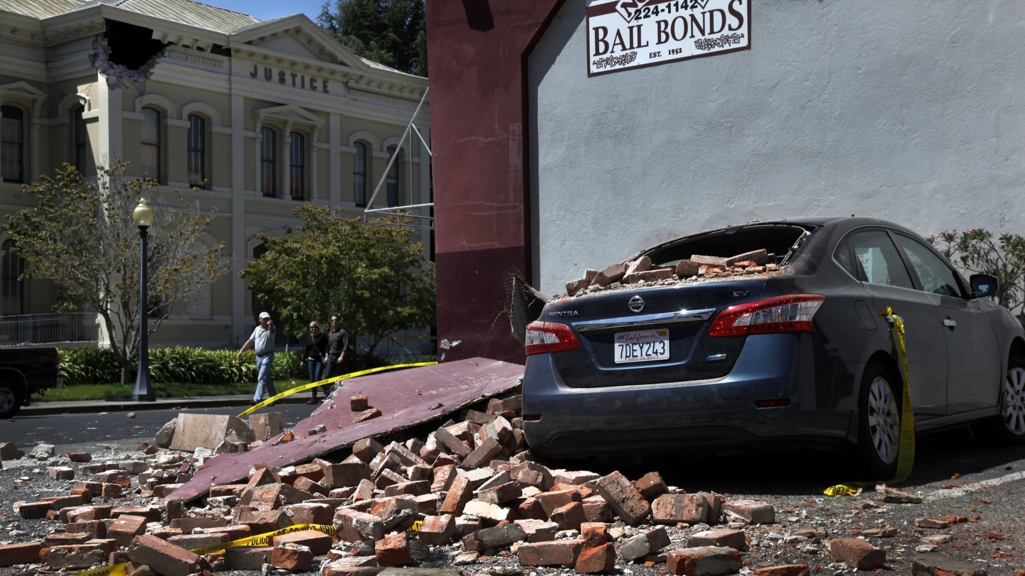 NAPA, CA. — SUNDAY, AUGUST 24, 2014 — A 6.0 earthquake damaged several buildings and caused severa