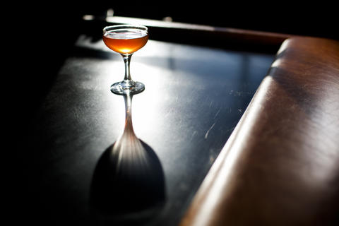 The Summit is a blend of Suntory Toki, Lustau fino sherry, Apologue persimmon liqueur and grapefruit bitters.