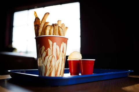 "The ""Frensh Cut Fries"" with beef gravy are served with malted vanilla gelato. If you love dipping your Wendy's fries in a Frosty, this is for you."