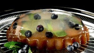 Blueberry gin and tonic gelatin