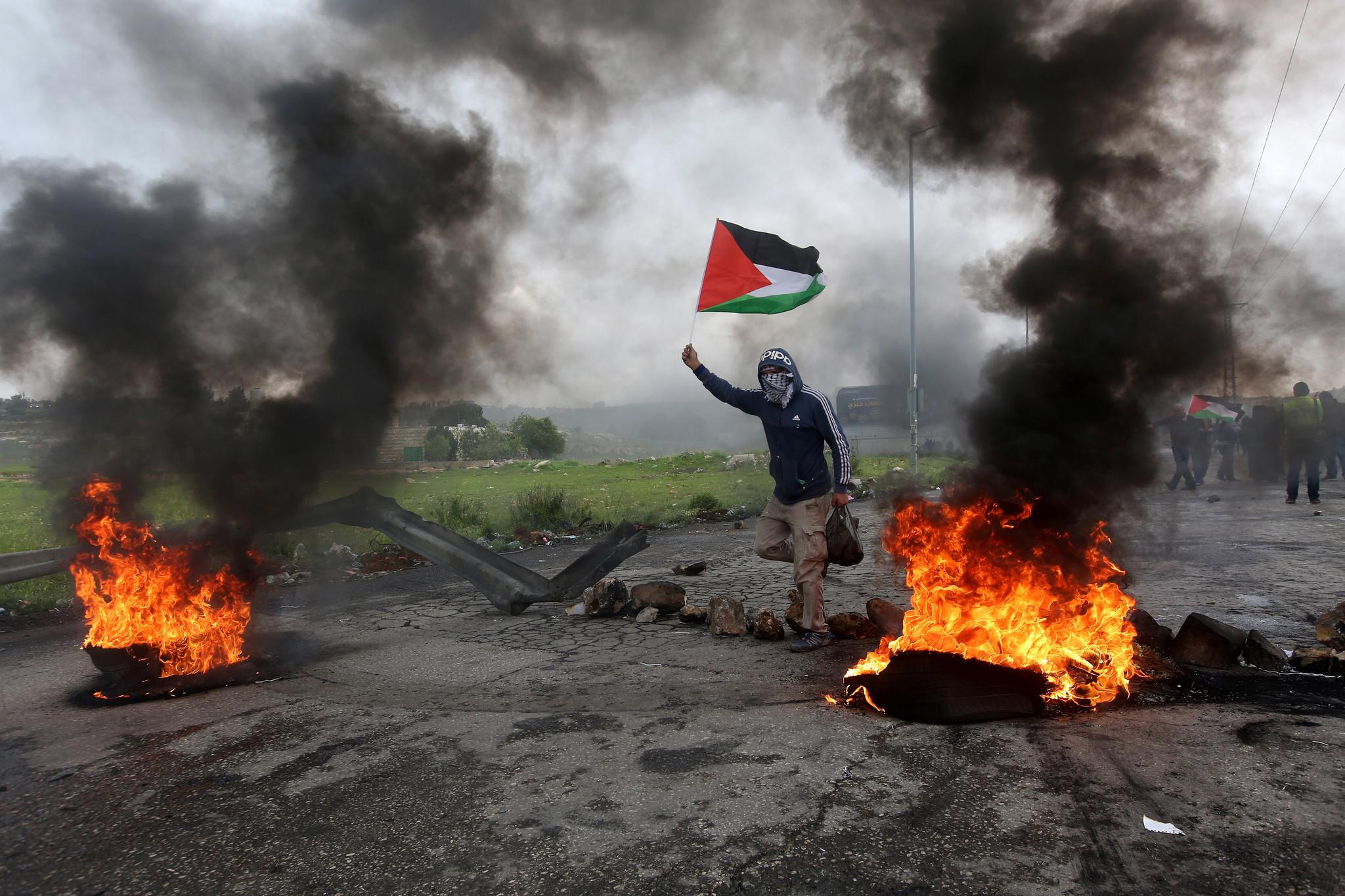 Clashes near Ramallah marking Land Day, --- - 30 Mar 2018