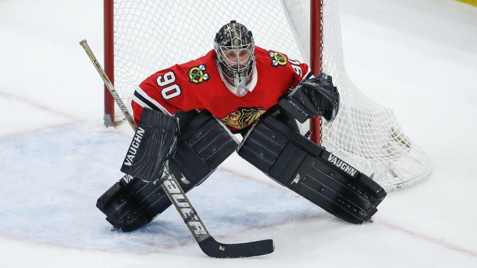 1d5d43a4e91 From beer league to big league  36-year-old goalie Scott Foster makes  emergency debut in Blackhawks  6-2 win