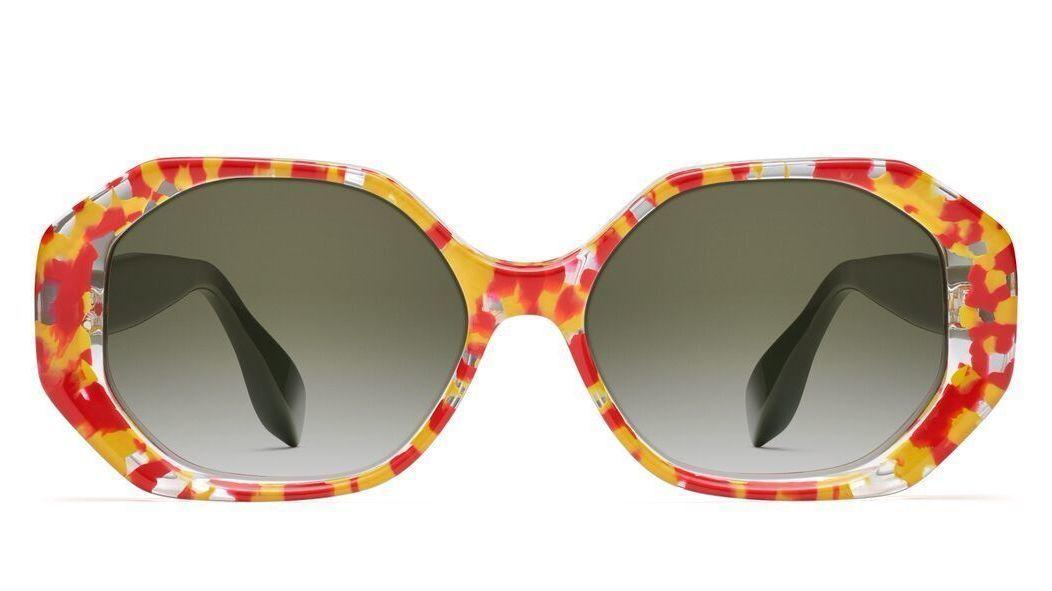 Rosie Assoulin x Morgenthal Frederics Gobstopper glasses.