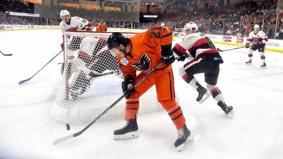 AHL: Phantoms Hang On Versus Senators