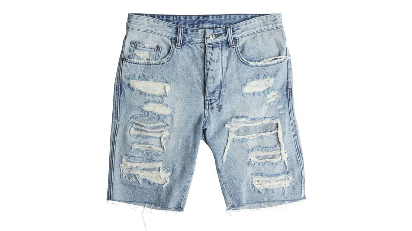Distressed denim cut-offs for men from Australian brand Ksubi