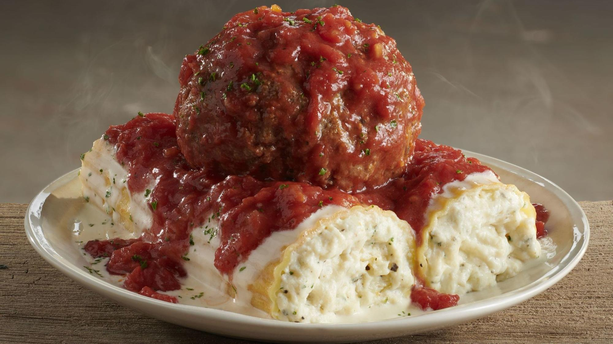 olive garden adds 39 giant 39 12 ounce meatball to menu the morning call