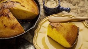 Zynodoa's bruleed cast iron cornbread