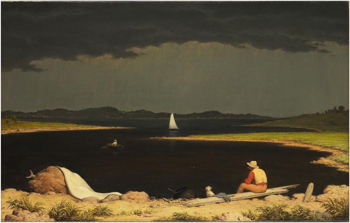 "Martin Johnson Heade's ""Approaching Thunder Storm,"" 1859, oil on canvas"