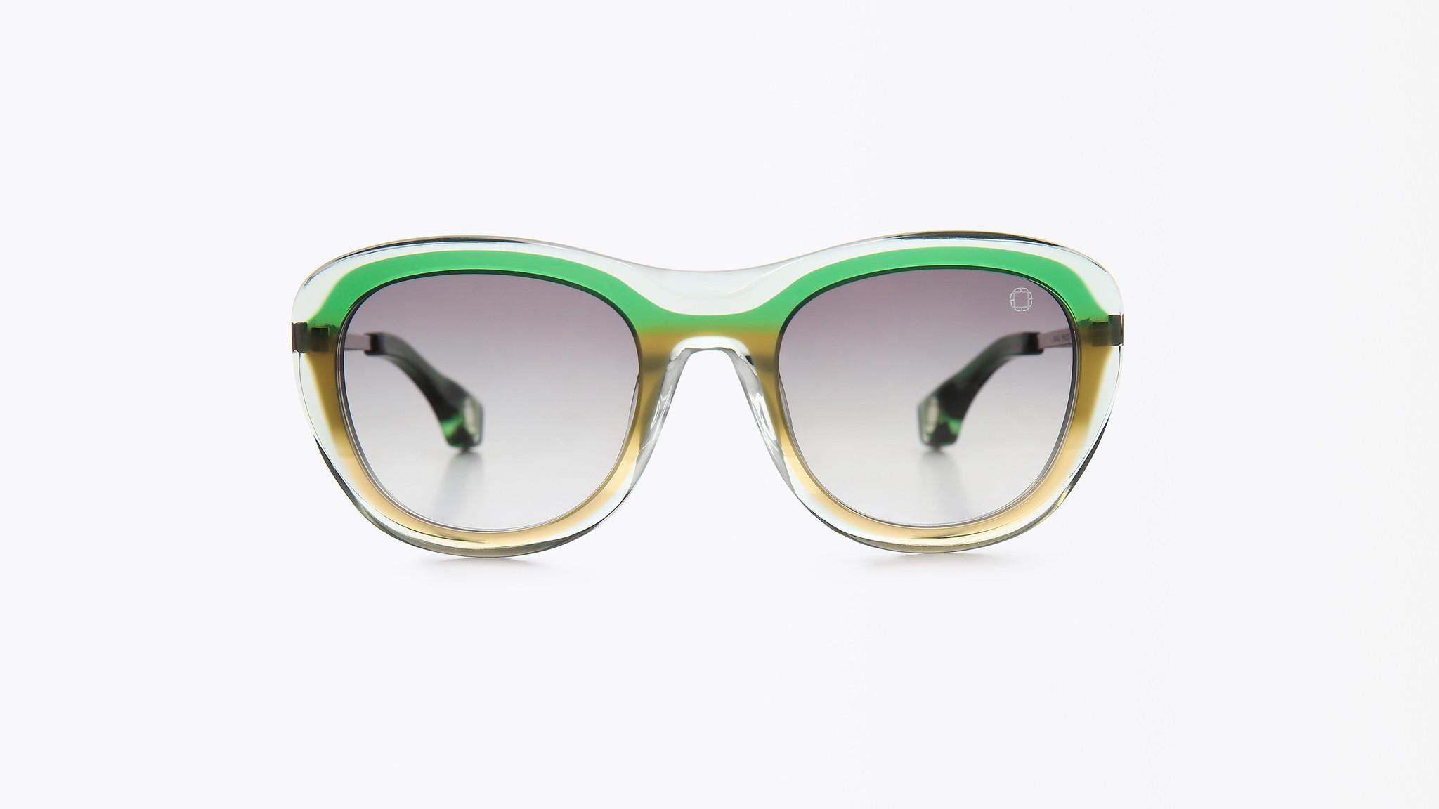 Blake Kuwahara Chareau in Hemlock Fade Sunglasses, $625. www.blakekuwahara.com