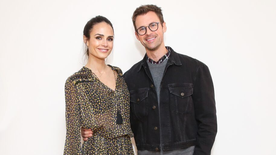 Jordana Brewster and Brad Goreski
