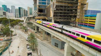 Brightline doing test runs to downtown Miami