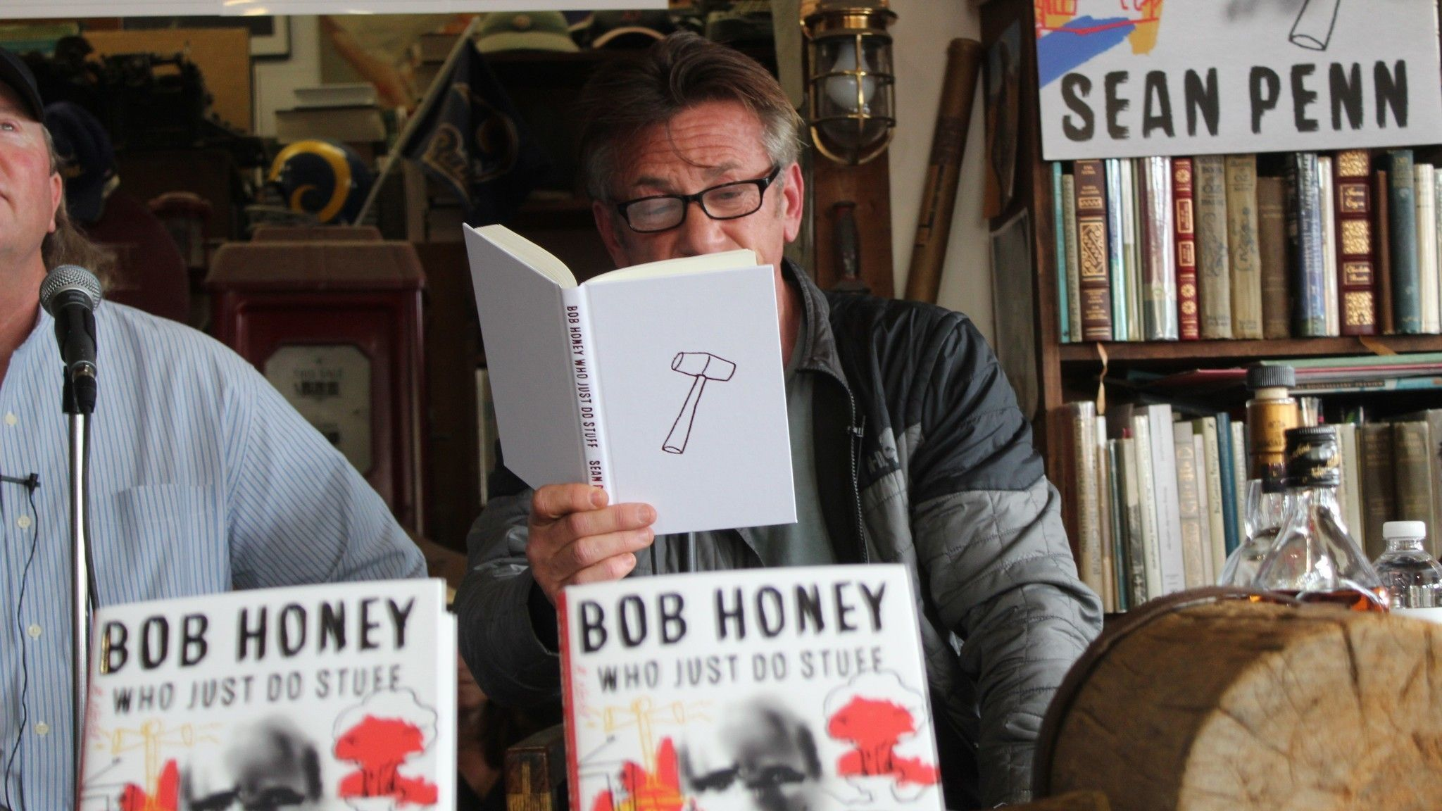Sean Penn reads from his book 'Bob Honey Who Just Do Stuff.'