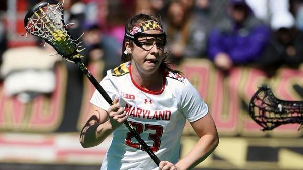 With trademark speed, Maryland lacrosse's Megan Whittle (McDonogh) closes in on idol's goal-scoring record