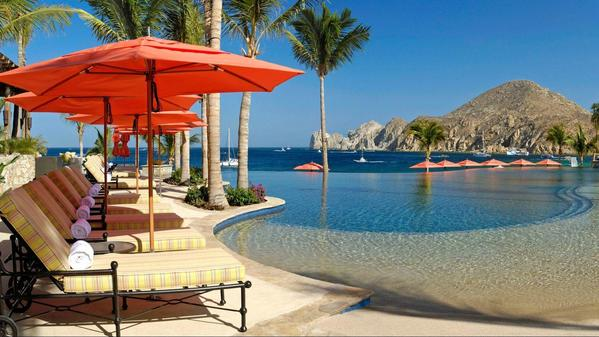 Whale watching in Mexico's Cabo San Lucas, from a fashionable beach resort
